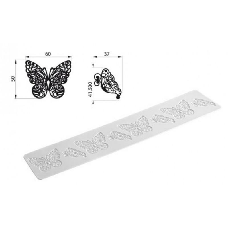 Silikomart Silikonmatta, Tricot Decor, fjäril