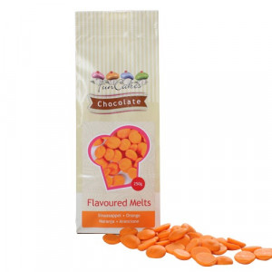 Orange Chocolate Melts, apelsinsmak, 250 g - FunCakes