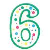 Wilton Tårtljus, sifferljus, 6, grön