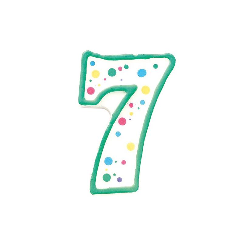 Wilton Tårtljus, sifferljus, 7, grön
