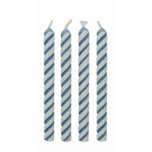 PME Tårtljus, randiga, blåa