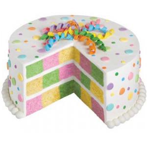 Wilton Bakform schackrutig tårta
