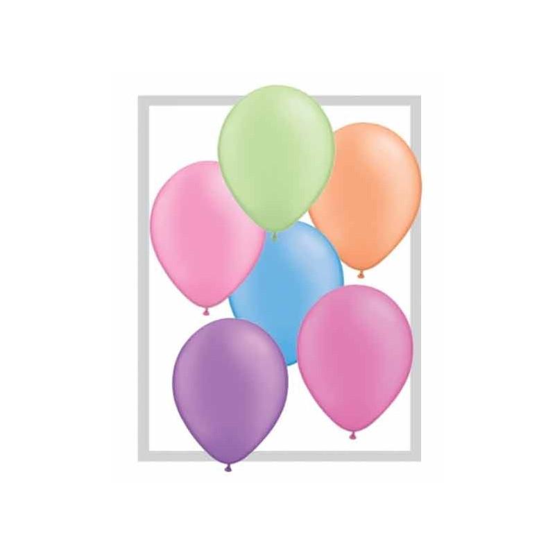 Qualatex Ballonger, Neon blandade färger, 25 st