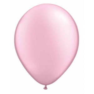 Qualatex Ballonger, ljusrosa pearl, 6 st