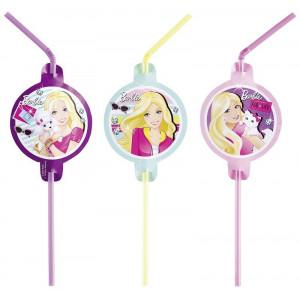 Sugrör Barbie Fashion, lila