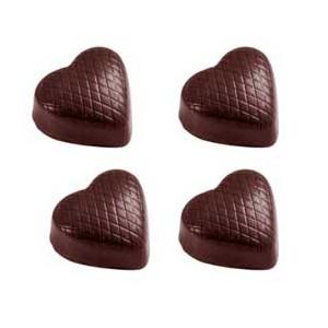 Chocolate World Pralinform Hjärta med linjer