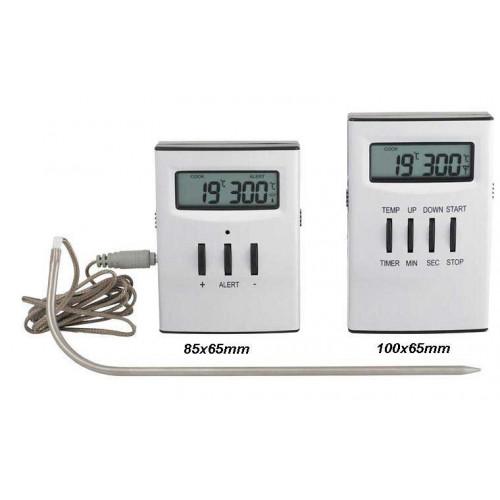 Trådlös Stektermometer, sändare och mottagare
