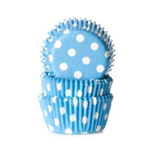 House of Marie Minimuffinsform Polkadot Blue