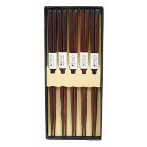 Ätpinnar Kinesiska, mörkbrun bambu, 5 par