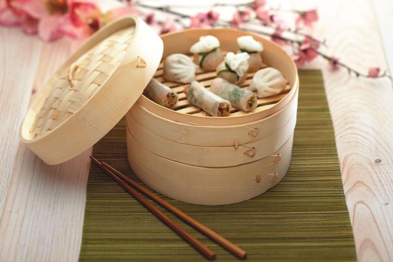 Ångkokare Bambu, 20 cm - Kitchen Craft
