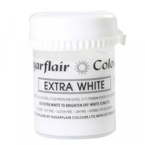 Extra vit pastafärg - Sugarflair