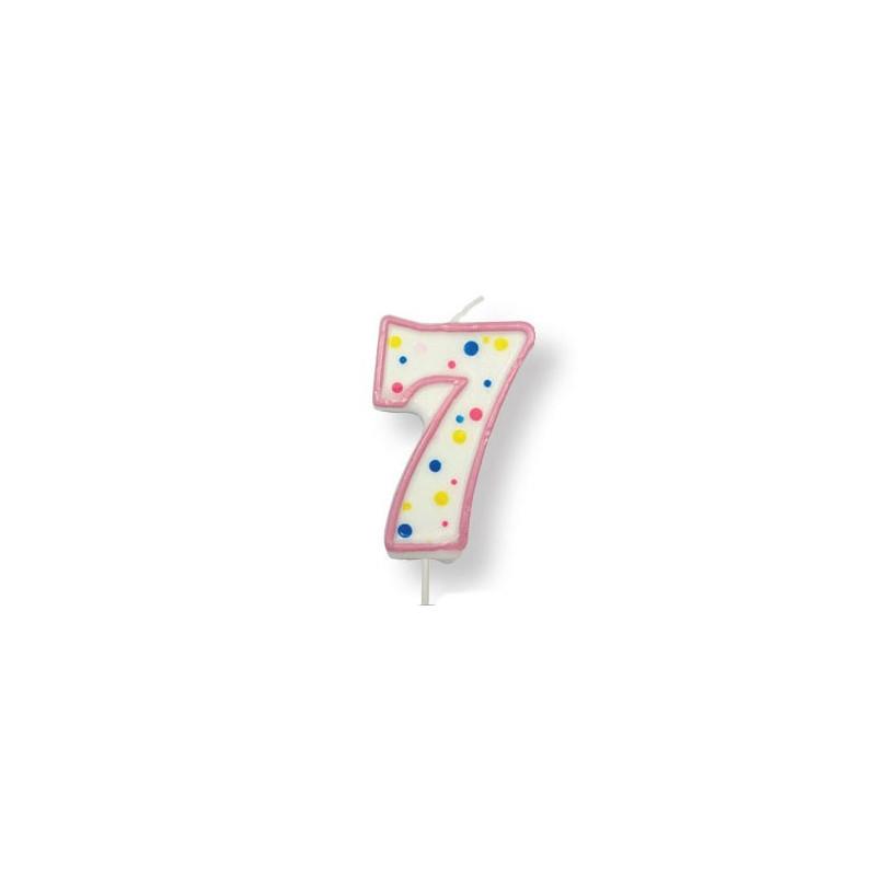 PME Tårtljus Sifferljus, 7, rosa