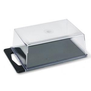 Ostkupa i Transparent plast, 25 cm - Funktion