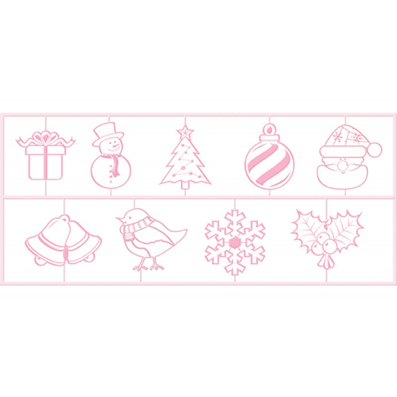 Kitchen Craft Embosser Christmas, 9 delar