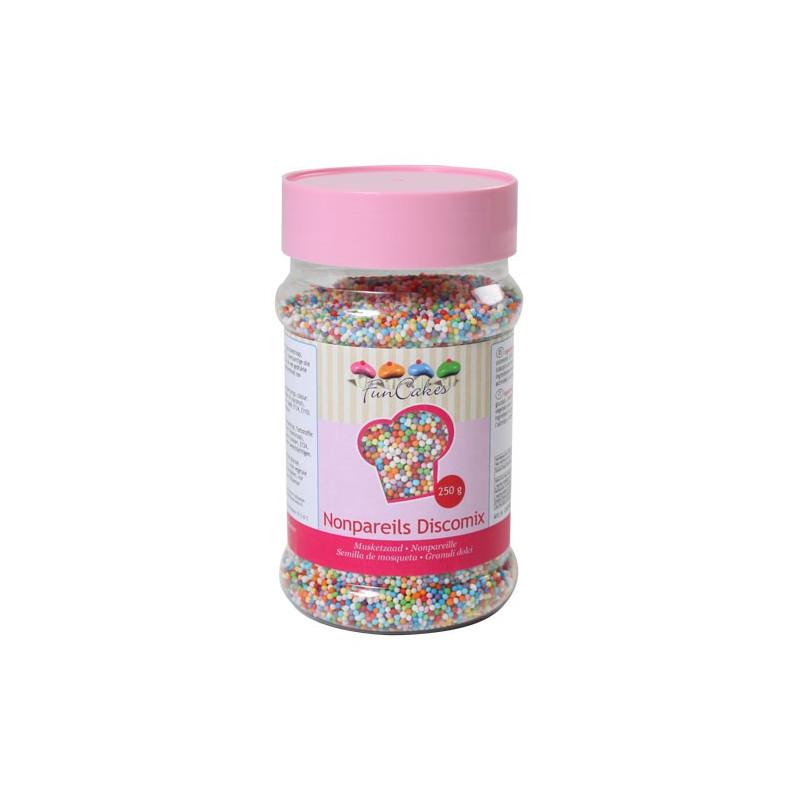FunCakes Sockerpärlor Discomix, 250 gram