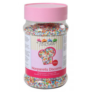 Sockerpärlor Discomix, 250 gram - FunCakes