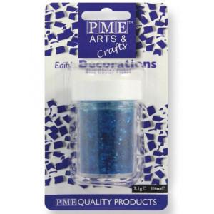 PME Ätbart Glitter, Flakes, blå