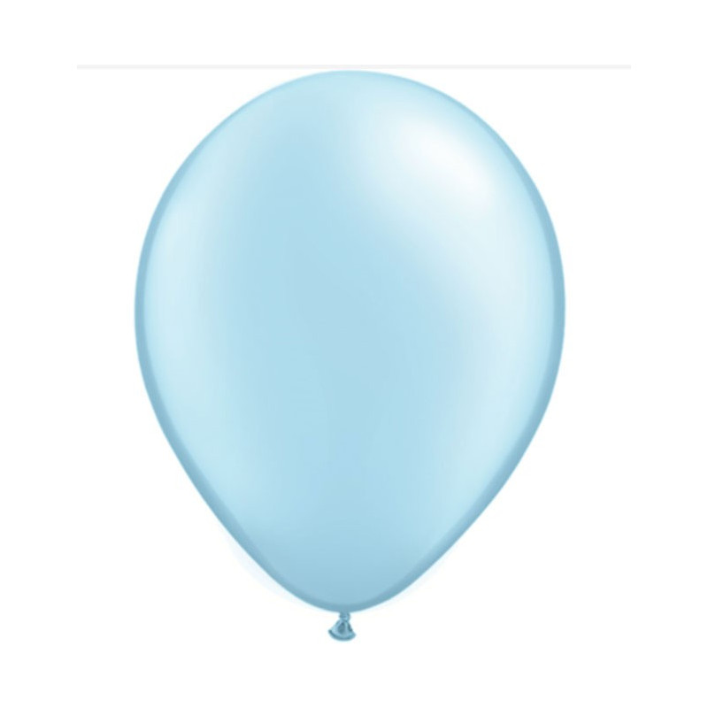 Qualatex Ballonger Metallic Light Blue, 8 st