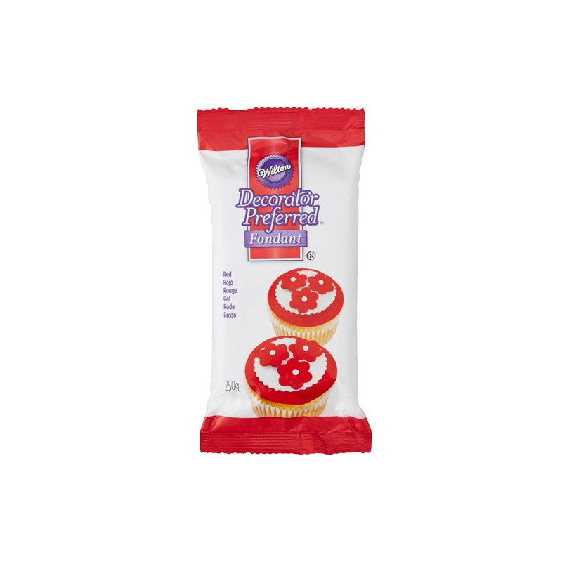 Wilton Röd Sockerpasta, 250 g