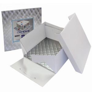 Tårtkartong med kvadratisk bricka, 23 cm - PME
