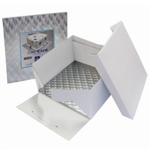 PME Tårtkartong med kvadratisk bricka, 25 cm