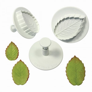 PME Utstickare, Veined Rose Leaf, Large Set