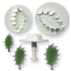 PME Utstickare Veined Holly Leaf set, extra large