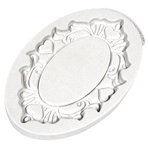 Katy Sue Designs Silikonform Plaque Oval Hearts