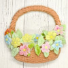 Katy Sue Designs Silikonform Korg med blommor