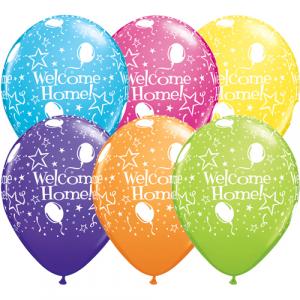 Ballonger Welcome Home, blandade färger