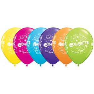 Qualatex Ballonger Congrats Graduate, blandade färger