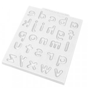Katy Sue Designs Silikonform Bokstäver, Domed Alphabet