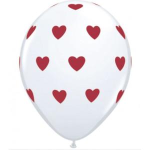 Qualatex Ballonger Hjärtan, vita