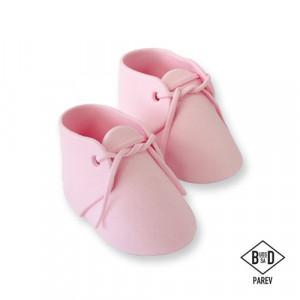 Rosa Ätbara babyskor, Tårtdekoration Dop - PME