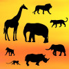 Patchwork Cutters Utstickare Safari Silhouette Set