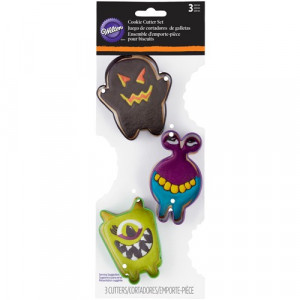 Wilton Utstickare Monster, 3 st