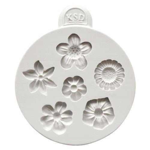 Katy Sue Designs Silikonform Blommor