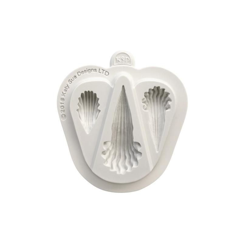 Katy Sue Designs Silikonform Shell Border Selection