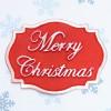 Katy Sue Designs Silikonform Plaque Merry Christmas