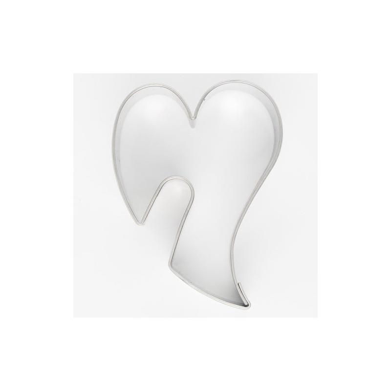 Utstickare Hjärta, rostfritt stål, 5,5 cm