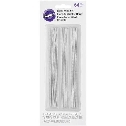 Wilton Floral wire, metalltråd, vit