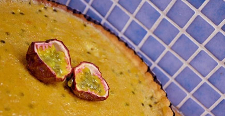 Citron- och passionsfruktpaj