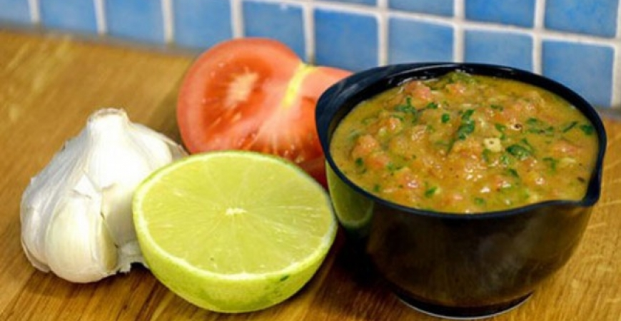 Tomatvinägrett med lime