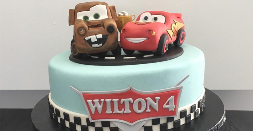 Tårtor med Blixten McQueen från Disneys Bilar
