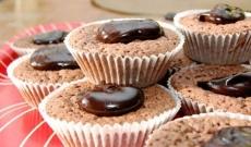 Kladdmuffins med chokladtopping