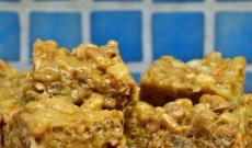 Rice crispie-godbitar med Snickers