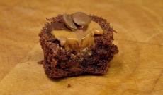 Kladdmuffins med jordnötssmör