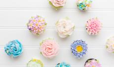 7 Blommiga Cupcakes