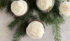 Pepparkaksmuffins med citrontopping