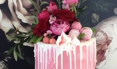Rosa tårtor